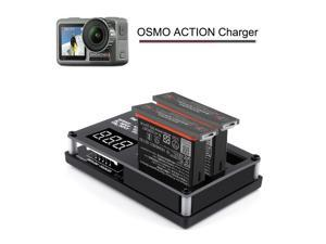 3 IN 1 Charger Hub Station Intelligent Battery Charger for DJI OSMO Action Camera DC USB