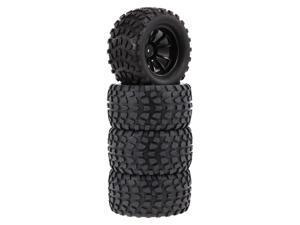 4PCS 1/10 Tyre Nail Block Tread Pattern 10 Spokes Rim for 1/10 HSP HPI Redcat RC4WD AXIAL RC Car