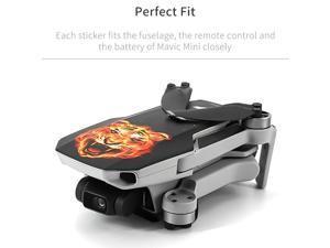 Compatible with DJI Mavic Mini Drone Stickers Waterproof Anti Scratch Drone Surface Guard PVC Sticker DIY