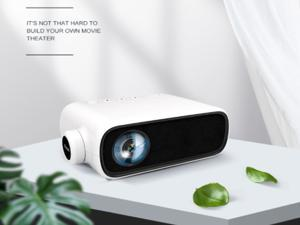 Mini Projector LED Home Theater Media Audio Player HDMI USB support 1080P Video Pocket Portable Projektor White