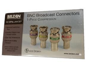 BOX-50 Belden 1694ABHD1 1694A RG6 HD BNC 1-Piece Compression Connector