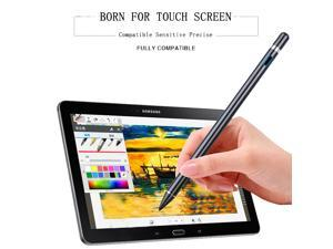Stylus pens for ipad Pencil, 1.45mm Capacitive Pen High Sensitivity & Fine Point, Magnetism Cover Cap, Universal for Apple/iPhone/Ipad pro/Android/Microsoft/Surface and Other Touch Screens, Black