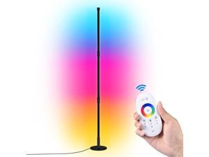Colour Changing RGB Mood Lighting Metal LED Corner Floor Wall Lamp Light With Remote