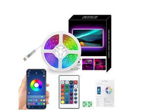 2M LED Strip Lights Bluetooth Music Sync RGB Lighting Strip with Remote Control  App Control for Home Party DIY Decoration