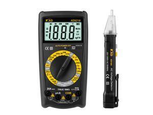 Digital Multimeter with Test Pencil Portable LCD Display Multimeter AC/DC Voltage Tester Voltmeter Ammeter