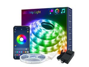 20M LED Strip Lights Long Strip Lights with 44-Key Remoter RGB Led Bluetooth Led Strip Lights with Connectors for Livingroom Party DIY Decoration