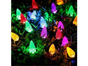 50 LED Solar Strawberry Light Strip Waterproof with Eight Functions Garden Holiday Outdoor Decoration Lights