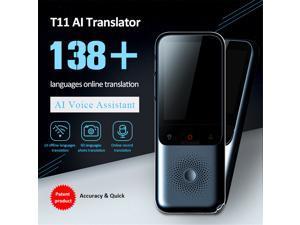 T11 Language Translator Device, Portable Two Way Instant Voice Translator Support 138 Languages with 98% Accuracy Online Translation, Photo & Offline Translation for Travelling Learning Business