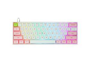 SK61 61 Keys Mechanical Keyboard Swappable with RGB Backlit, NKRO, water-resistant, Type-C Cable for Win/Mac/Gaming