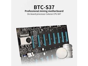 BTC-S37 Mining Machine Motherboard 8 PCIE 16X Graph Card SODIMM DDR3 SATA3.0 Support VGA + HDMI-Compatible