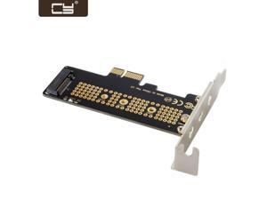 CY Low Profile PCI-E 3.0 x1 Lane to M.2 NGFF M-Key SSD Nvme AHCI PCI Express Adapter Card SA-008