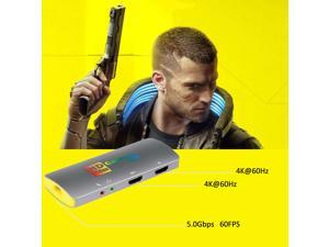 MiraBox Capture Card - HSV3217 4K@60Hz 60FPS USB3.0 Type-C FHD Game Capture Device for Facebook YouTube Game Live Streaming