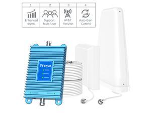 Cell Phone Signal Booster Up to 5,000 sq ft for Home & Office Boosts Band 13/5/2, 2G 3G 4G LTE Voice and Data for Verizon,T-Mobile, AT&T,Cellular Repeater Amplifier Kits with High Gain Antennas