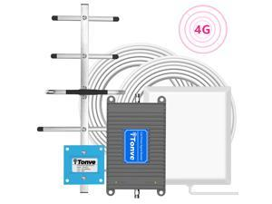 Verizon Cell Phone Signal Booster 4G LTE Band13 700Mhz Cell Signal Booster Verizon Mobile Phone Signal Booster Verizon Cell Phone Signal Amplifier Repeater with Panel/Yagi Antenna Kit for Home