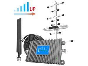 Cell Phone Signal Booster Up to 2,000 sq ft for Home & Office,Boosts Band 2/5/12/17/25/26, GSM 3G 4G LTE Voice and Data for Verizon, AT&T, 5G Support, High Gain Cellular Repeater Amplifier Kits