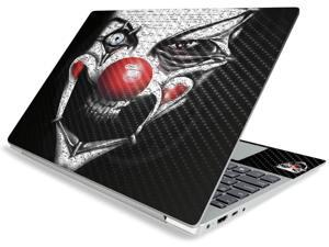 """Carbon Fiber Skin for Lenovo IdeaPad S340 15"""" (2019) - Evil Clown 