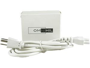 [UL Listed] Omnihil 5 Feet White AC Power Cord Compatible with Portal Plus from Facebook