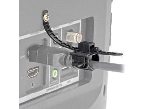 P568-000-LOCK HDMI Cable Lock, Clamp/Tie/Screw, Universal Design for Blu-Ray Installations, Black