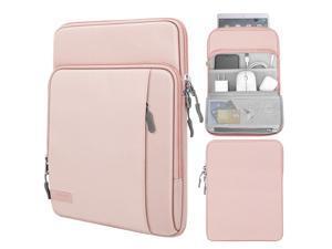 9-11 Inch Tablet Sleeve Bag Carrying Case With Storage Pockets Fits Ipad Pro 11 2021/2020/2018, Ipad 8Th 7Th Generation 10.2, Ipad Air 4 10.9, Ipad 9.7, Galaxy Tab A 10.1 - Pink