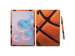 """Skin For Samsung Galaxy Tab S6 10.5"""" - Basketball   Protective, Durable, And Unique Vinyl Decal Wrap Cover   Easy To Apply, Remove, And Change Styles   Made In The Usa"""