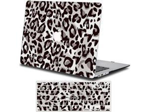 Case + Keyboard Cover Compatible With Macbook Pro 16 Inch, Plastic Hard Case Shell Compatible With Macbook Pro 16 Inch 2019 (Model: A2141)-Gray Leopard Print