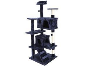 """ZENY 53"""" Cat Tree Scratching Condo Kitten Activity Tower Playhouse W/ Cave & Ladders Max Load 55 LBs"""