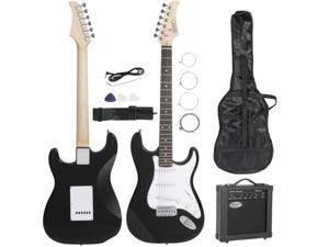 39'' Electric Guitar Kit Full Size with 10 W Amplifier, Strap, Strings, Pick and Bag