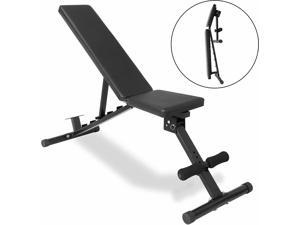 Adjustable Weight Bench Home Gym Strength Training for Full Body Workout