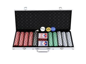500PCS Poker Chip Set 11.5 Gram Chips Poker Dice Chip Set for Texas Hold'em, Blackjack, Roulette Gambling with Aluminum Case