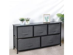 ZENY 5 Foldable Drawers Dresser Storage Tower Unit for Hallway Bedroom Use, 2-Tier with Metal Frame