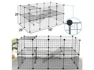 """ZENY 56"""" Two-Storey Dog Playpen Crate 36 Panel Fence Pet Play Pen Exercise Puppy Cage Pet Fence for Hedgehogs, Hamsters, Guinea Pigs or Puppies"""