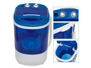 ZENY 9lbs Portable Compact Washing Machine Washer For Traveling, Camping & Dorms Double Knobs Timer Control