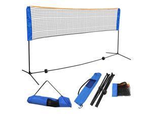 10' x 5' Badminton Volleyball Tennis Net Adjustable Height Sport Train Portable