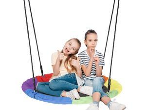 """ZENY 700lb Giant 40"""" Saucer Tree Swing Set for Kids and Adults with 2 Hanging Straps Outdoor Saucer Tree Swing"""