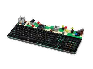 i-rocks K76M Plus Fun Brick Mechanical RGB illuminated Gaming Keyboard with Black Lego Plate and Cherry MX Red Switches