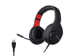 Somic GS301 Stereo Wired Gaming Headphones over Ear with Mic Voice Control for Laptop Computer Gamer Bass Effect(USB 7.1)