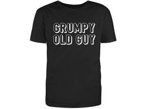 Men's Black Half Sleeves Cotton Grumpy Old Guy Sarcastic Novelty Funny T Shirt (2XL)