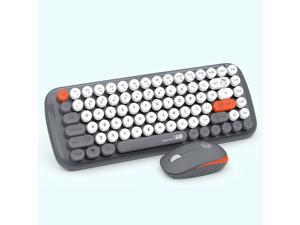 theone DKS2000 Wireless keyboard and mouse set 2.4g punk round keycap office keyboard Gray