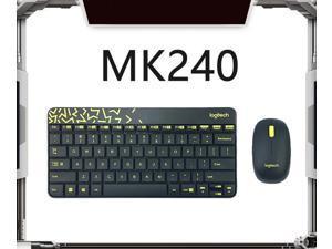 Logitech MK240 Nano Wireless Bluetooth Black Keyboard and Mouse Set Slim Office Keyboard