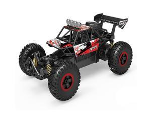 Yoizurr Remote Control Car 2.4 GHz All Terrain 15-20km/h High Speed Off-Road RC Truck, 1:14 Scale RC Cars, Ideal Xmas Gifts Remote Control Toy for Boys and Adults(Red)