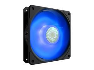 Cooler Master SickleFlow 120 V2 Blue led Square Frame Fan with Air Balance Curve Blade Design, Sealed Bearing, PWM Control for Computer Case & Liquid Radiator
