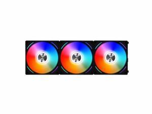 Lian Li UNI Fan AL AL120 RGB Daisy Chain ARGB 120mm UF-AL120-3B Black x3 Black 3 Pack Addressable RGB w/ Controller