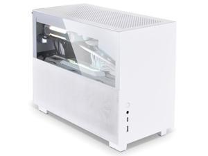 LIAN LI Q58 4.0 version aluminum alloy computer case supports ITX motherboard/280 water cooling/ATX power supply White