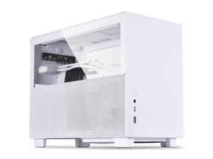 LIAN LI Q58 3.0 version aluminum alloy computer case supports ITX motherboard/280 water cooling/ATX power supply White