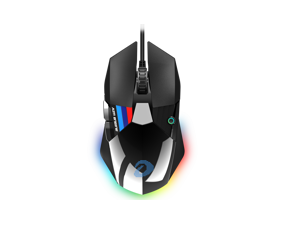 Dareu A970 gaming mouse led RGB backlight soft-wired mice 16000 dpi 50 million click times