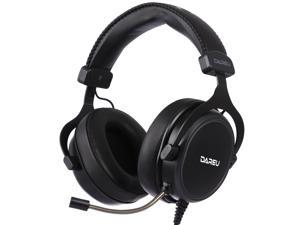 Dareu EH925 Wired Gaming Headset - 7.1 Surround Sound - Memory Foam Ear Pads - 53MM Drivers - Detachable Microphone - Multi Platforms Black Headphone - Works with PC, PS4/3 & Xbox One/Series X, NS