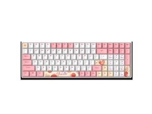 Dareu A100 USB/Bluetooth/Wifi mechanical keyboard 100 keys TTC mechanical axis wireless keyboard office gaming keyboard TTC Bluish White Pink