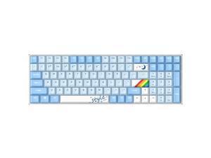 Dareu A100 USB/Bluetooth/Wifi mechanical keyboard 100 keys TTC mechanical axis wireless keyboard office gaming keyboard TTC Bluish White Blue
