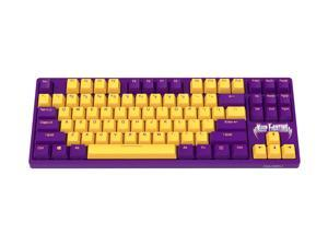 Dareu A87 violet switch Wired Mechanical Gaming Keyboard 87 Macro recording Keys N-Key RollOver Keypads with PBT Keycaps