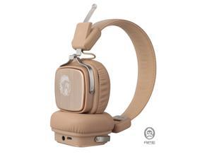 ApeSonic Roar : Bluetooth 5.0 Wireless Headphones, Foldable headset, Premium & High resolution, On ear design, Hearing protection tuning, Light weight & Comfortable, with travel bag - Light Gold
